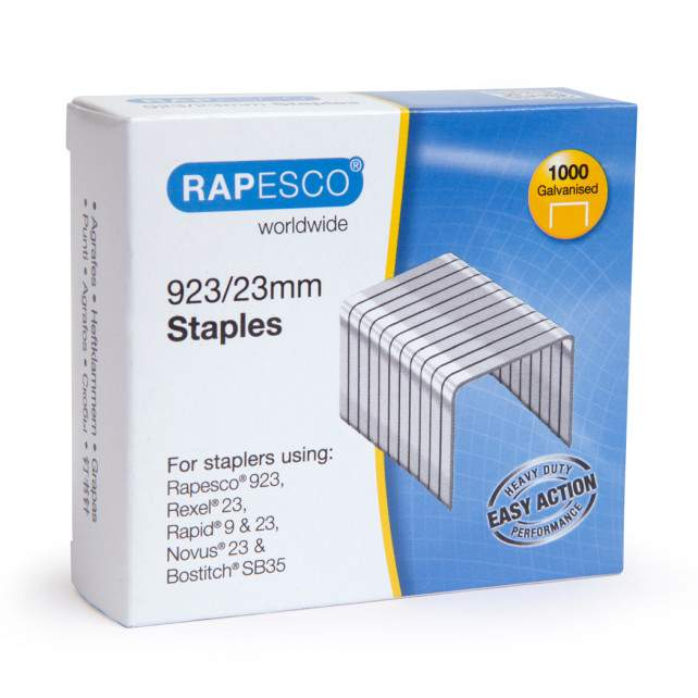 923/23mm (23 Type) Galvanised Staples (box of 1,000)