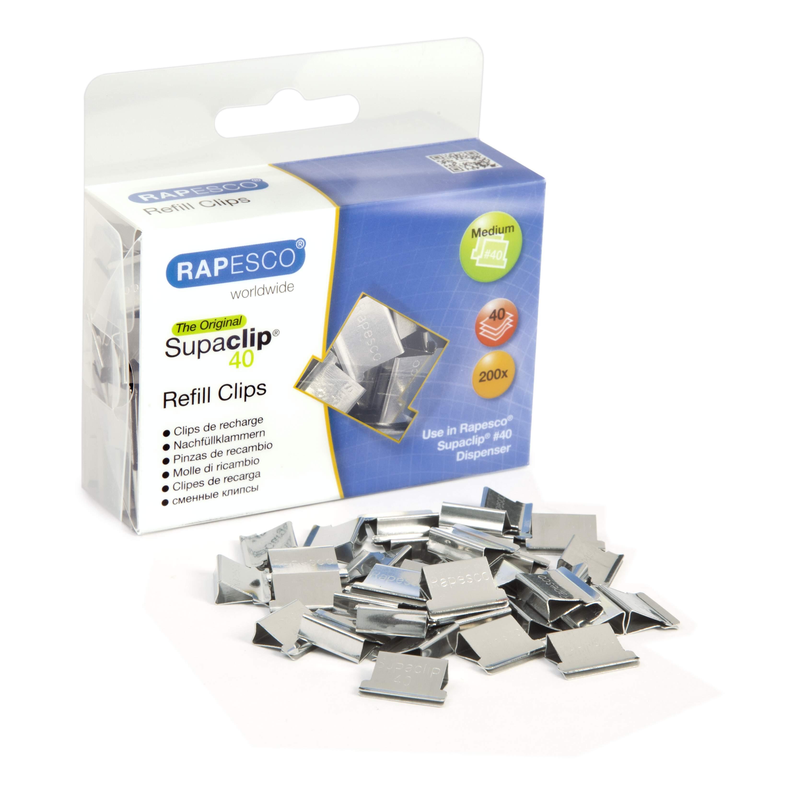 Rapesco Supaclip 40 Candy Pink Refill Clips X 100 Medium 40 Sheet Paper clip