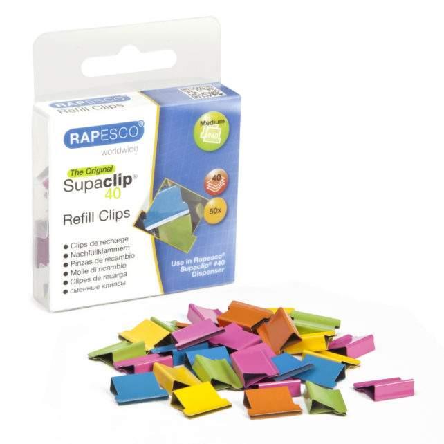 Supaclip #40 Refill Clips – Multicolour