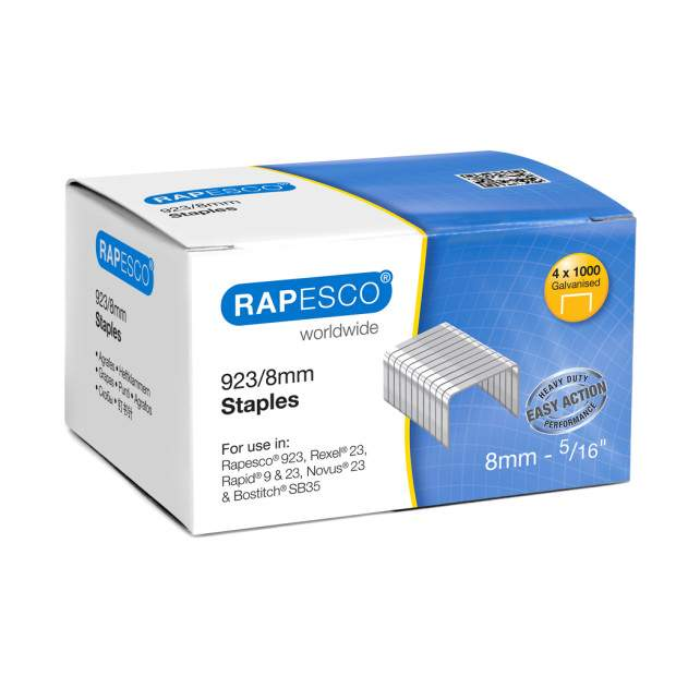923/8mm (23 Type) Galvanised Staples (box of 4,000)