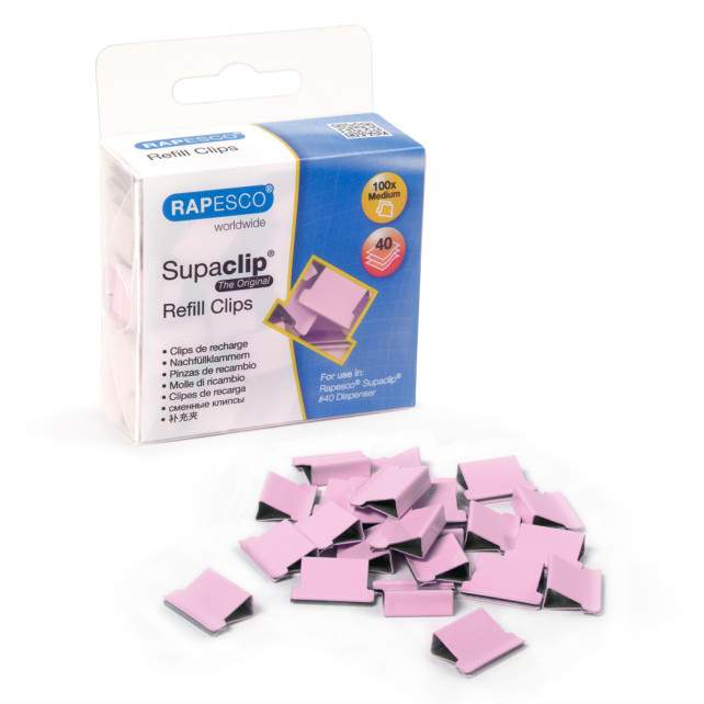 Supaclip #40 Candy Pink Refill Clips